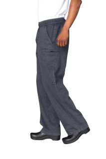 Enzyme Utility Twilight Blue Chef Pants-CW