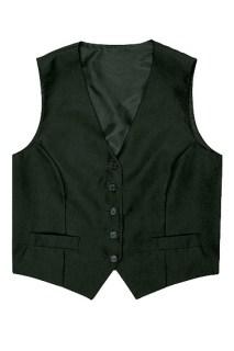 Women's Black Basic Vest-