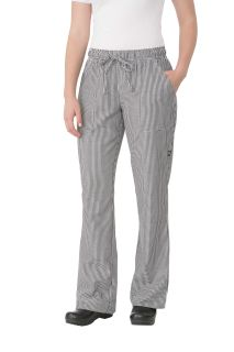 Women's Small Check Chef Pants-CW