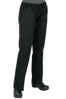 Women's Black Chef Pants-CW