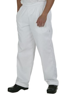 White Basic Chef Baggy with zipper-CW