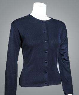 "Cobmex Ladies ""Cashmere""-Like Jewel Neck Cardigan (Twin Set)-Cobmex"