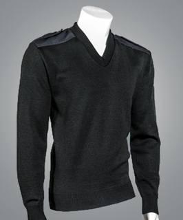 2825 V-Neck Military Pullover