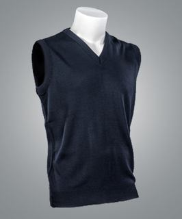 "Cobmex ""Cashmere""-Like Sleeveless V-Neck Vest-"