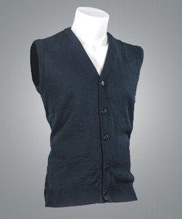 Cobmex V-Neck Button Front Sleeveless Vest-Cobmex