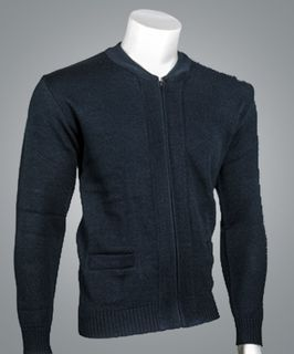 4010 Crew Neck Zip Cardigan-Cobmex