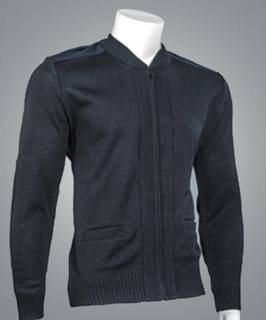 "Cobmex Crew Neck Zip Front ""Commando"" with Pockets, Velcro Epaulets, Poly-Cotton Shoulder and Elbow Patches-Cobmex"