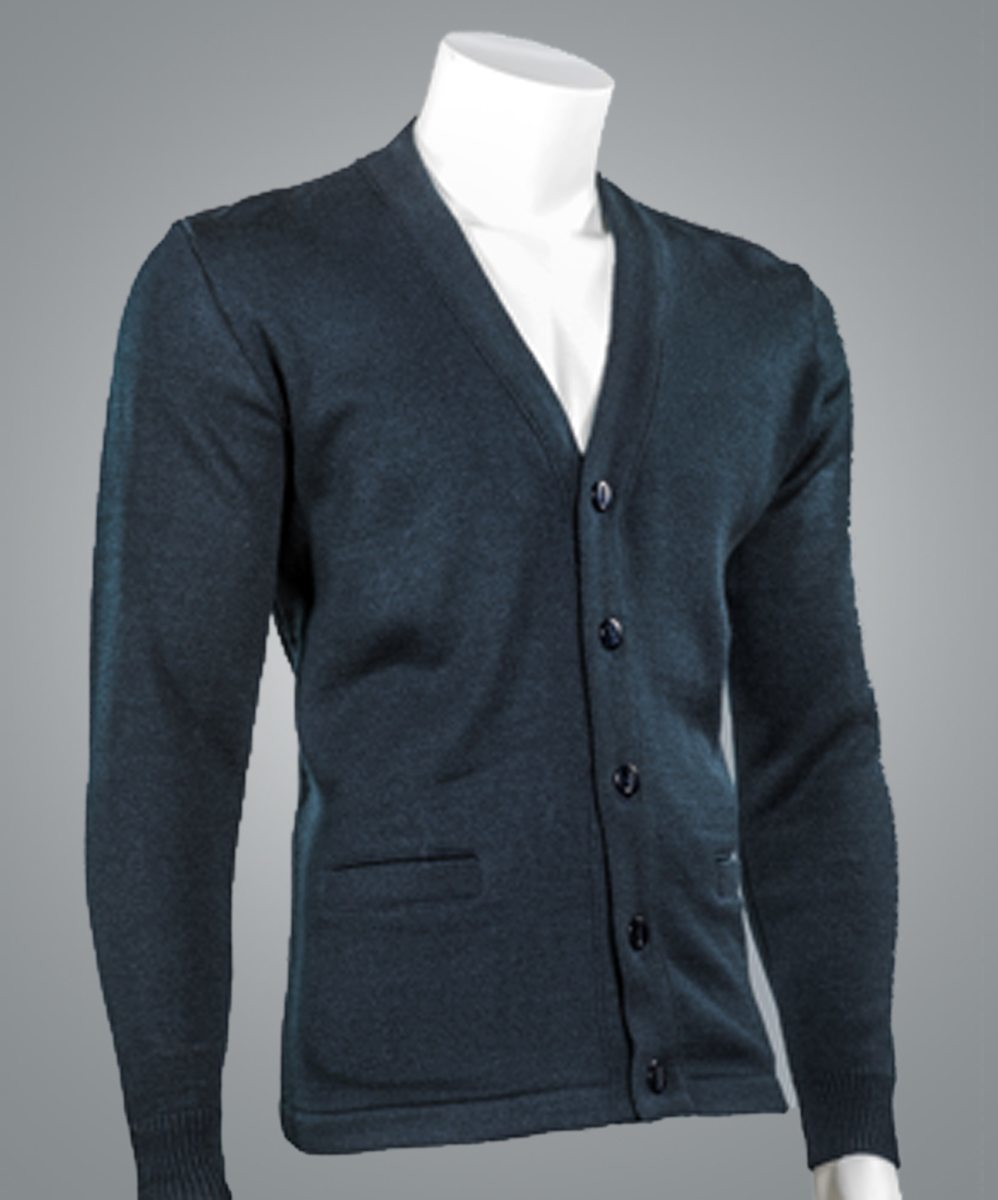 4018 V-Neck Button Front Cardigan