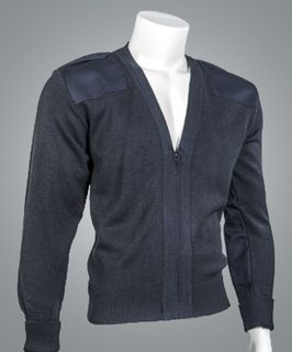 "Cobmex V-Neck Zip Front ""Commando"" with Velcro Epaulets, Turned Up Cuffs, Poly-Cotton Shoulder and Elbow Patches-"