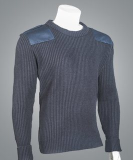"Cobmex Crew Neck Rib ""Commando"" with Velcro Epaulets, Poly-Cotton Shoulder and Elbow Patches-"