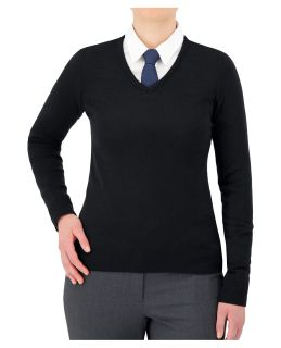 "Cobmex Ladies ""Cashmere""-Like V-Neck Long Sleeve Pullover-"