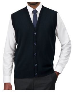 Cobmex V-Neck Button Front Vest-Cobmex