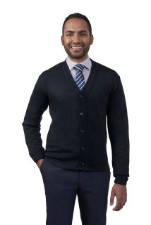 Cobmex V-Neck Long Sleeve Button Front Cardigan with Hemmed Waistband-Cobmex