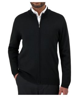 Cobmex Mens Mockneck Full Zip Cardigan-