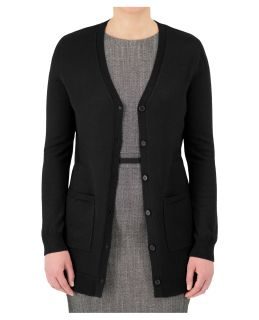 Cobmex Ladies Long Button Cardigan-