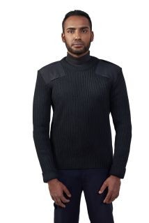 "Cobmex Crew Neck Rib ""Commando"" with Velcro Epaulets, Shoulder and Elbow Patches-Cobmex"