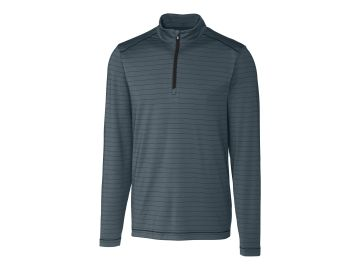 Holman Stripe Half Zip-Cutter & Buck