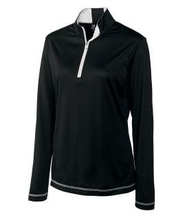 Women's CB DryTec long sleeve Choice Zip Mock