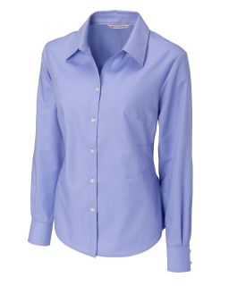 Womens long sleeve Epic Easy Care Royal Oxford