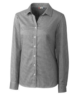 Womens L/S Granna Stain Resistant Houndstooth
