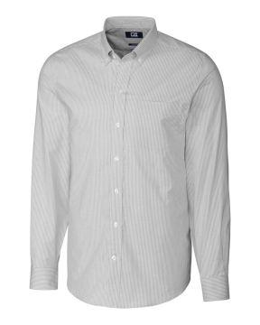 L/S Tailored Fit Stretch Oxford Stripe-