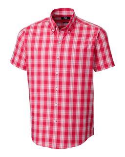 Strive Shadow Plaid Short Sleeve-Cutter & Buck