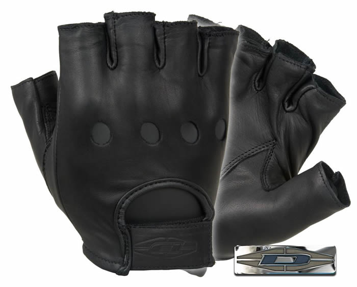 Premium Leather Driving Gloves : 1/2 finger