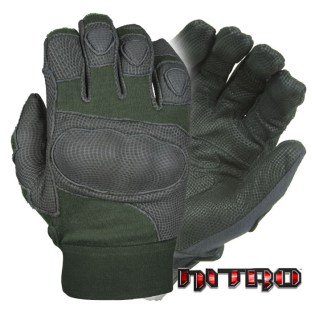 Nitro™ Kevlar® Gloves w/ Hard Shell Knuckles,Olive Green-Damascus