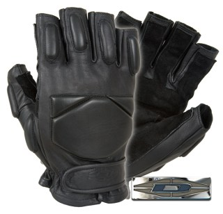 Responder™ Gloves - 1/2 Finger Leather w/Reinforced Palms-