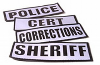 "Reflective Name Plate : ""Sheriff""-"