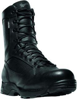 """Striker Torrent Side-Zip 8"""" Black Leather-"""