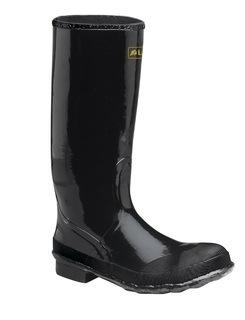 "Economy Knee Boot 16"" Black"