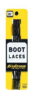 """Laces 76"""" Black Brown Tick-"""