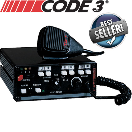 Code 3 MasterCom Siren w/Light Controls