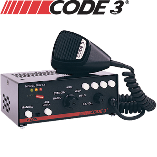 Code 3 3672L4 V-Con Siren-