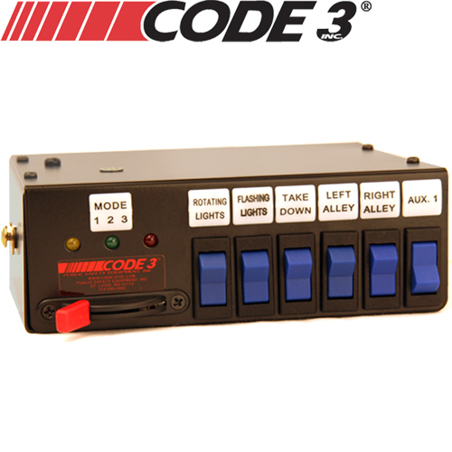 Code 3 440L6 Rocker Max Pack Switch Box