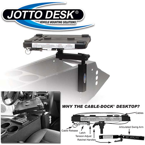 Console Side Mounted Laptop Computer Mount -jacksuniforms