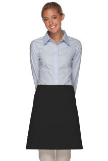 Two Patch Pocket Half Bistro Apron-