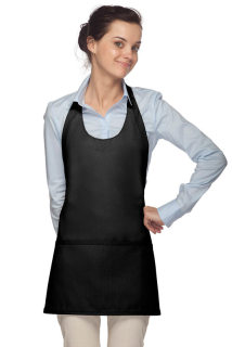 Scoop Neck Apron w/ Three Lower Pockets-