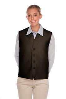 No Pocket Unisex Vest w/ Four Button Front