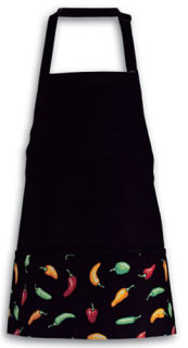 Chili Pepper Three Pocket Bib