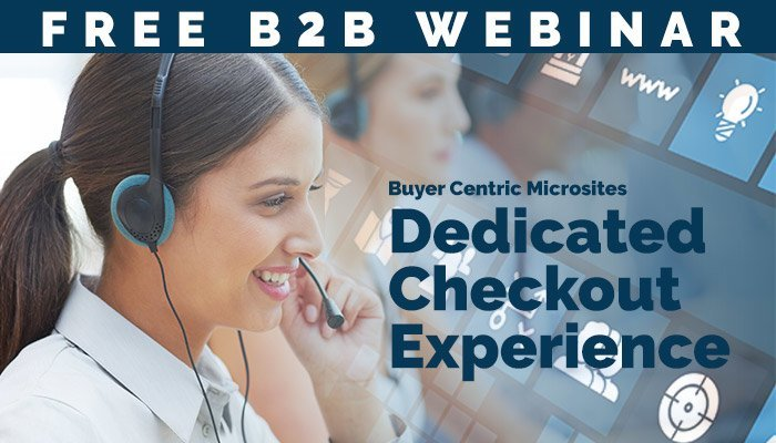 B2B Websites Dedicated Checkout Process