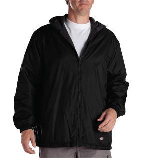 Fleece Lined Nylon Hooded Jacket
