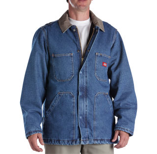 Denim Zip Front Chore Coat