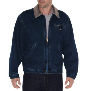 Denim Zip Front Jacket