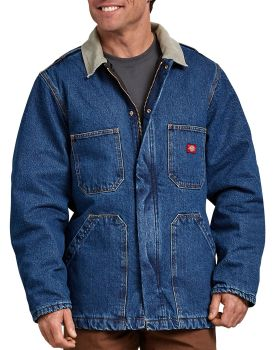 Dickies Industrial Mens Zipfnt Denim Chorcoat-Dickies