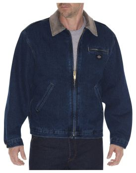 Dickies Industrial Mens Denim Felled Jacket-Dickies