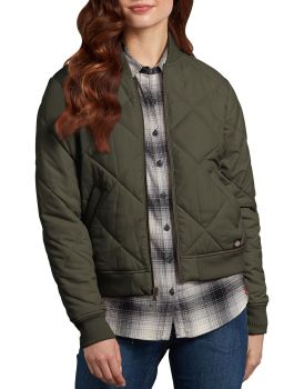 Dickies Womens Industrial Bomber Jacket-Dickies