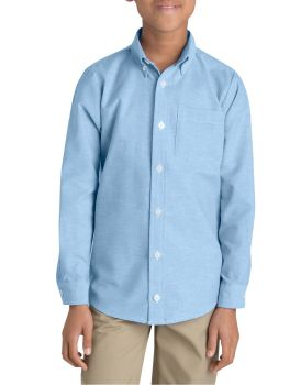 Boys Blue Oxford Ls Shirt-Dickies