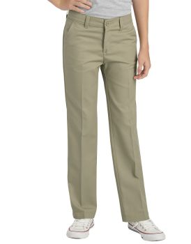 Girls' FlexWaist® Slim Fit Straight Leg Flat Front Pants-Dickies